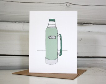 Stanley Thermos note card.