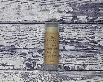 Lavender Chamomile Organic Lip Balm Favor / Chapstick / Beeswax Lip Balm / Natural Lip Balm / Lip Balm for Men / Chapstick