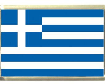 Greek Flag Fridge Magnet 7cm by 4.5cm,