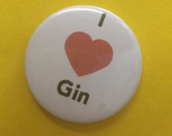I heart Gin Pin Badge