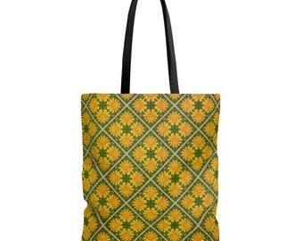 Calendula Flower Tote Bag