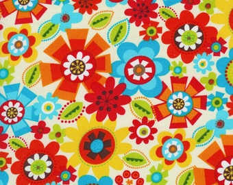 Timeless Treasures owls  flowers  fabric 0,5 m pure Cotton