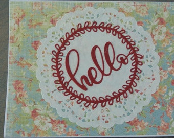 Shabby Chic Country Style Hello Card