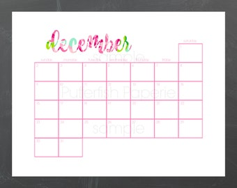 2018 Monthly Calendar - Planner Inserts - Rose Collection