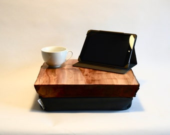 Luxury Wood LapDesk, LapTray, LapPad, Laptop Table, Portable Desk, Pillow Desk, TV Tray, Cushion Tray