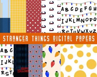 Stranger things digital papers | halloween, demogorgon, eleven, dustin