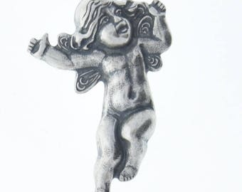 Brass stamping Cherub dancing  brass , victorian motif ,  sold by each 04256CS