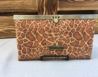 Giraffe Cork Slim Line Wallet
