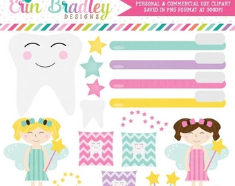 80% OFF SALE Tooth Fairy Clipart Instant Download Personal & Commercial Use Clip Art Graphics