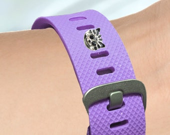 Fitness-Watch Charm, Cat Charm; Personalize your watchband with style and charm!