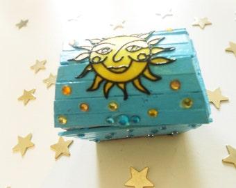 Miniature Treasure Chest Trinket Box - Sunshine