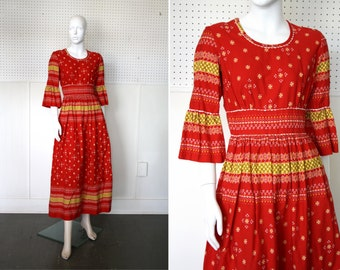 Red Festival Dress By Vicky Vaughn