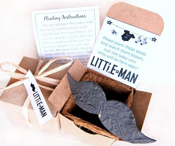 Baby Shower Favors Seeds ~ Plantable little man baby shower favors flower seed