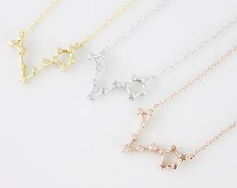 Pisces Constellation Necklace Pisces Necklace Zodiac Pisces Pendant Necklace Constellation Jewelry