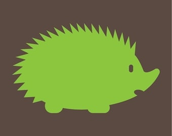 hedgehog family vinyl wall decals