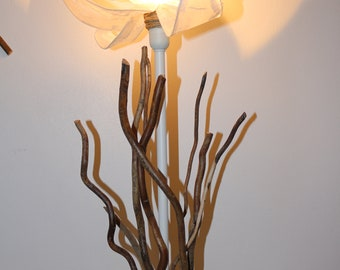 Flower and branch lamp