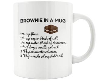 Brownie in a Mug, Mother's Day Gift, Gift for Mom, Gift for Her, Gift for Grandma Gift, Chocolate Lover Gift,mom mug,sister mug,Housewarming
