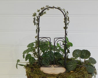 Delicieux Fairy Garden Arbor Miniature Accessories With Artificial Ivy Garland, Fairy  Accessory, Fairy Furniture, Miniature Trellis, Miniature Ivy