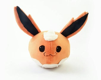Round Flareon Plush- Cute Pokemon Doll