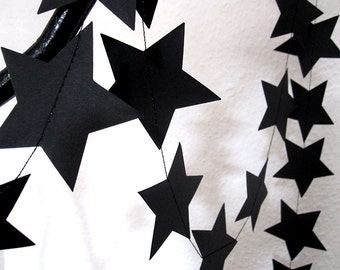 STAR garland in black by renna deluxe