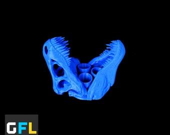 3D Printed T-Rex Skull Toothbrush Holder