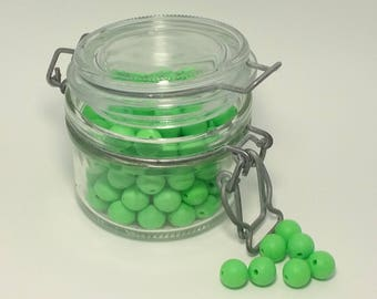 beads silicone × 5 FLASH green 100% silicone with 12mm for making sweet...