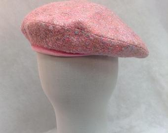 Classical women's beret French beret  Light pink color beret Autumn-winter season beret