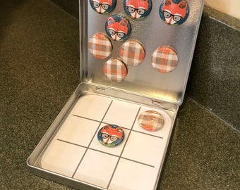 Fox and Plaid Tic Tac Toe Game