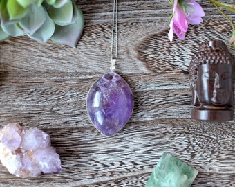 Large Amethyst Pendant Necklace