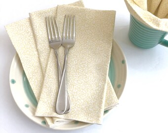 Cloth Napkins - Luncheon Napkins - Scroll Print Napkins - Spring Napkins -  Cloth Dinner Napkins - Baby Shower Napkins - Easter Napkins