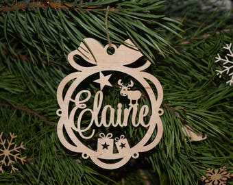 Personalised Christmas Name Bauble Tree decorations Personalised Christmas Ornament New Baby Baby's First Christmas Bauble Memorial Ornament