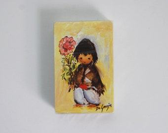 Vintage DeGrazia Playing Cards, Vintage Deck of Cards Ettore DeGrazia Art