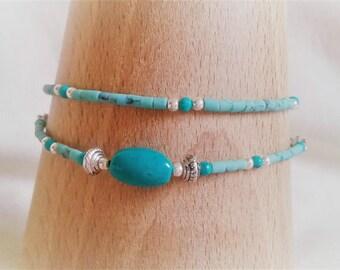 Ethnic Turquoise gemstone bracelet