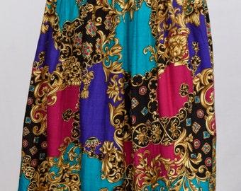 Jazzy 80's Print Skirt