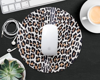 Orange Leopard Mouse Pad Panther Mouse Mat Desk Accessories Animal MousePads Gift for Her MouseMat Computer Mouse Pad Decor Office Supplies