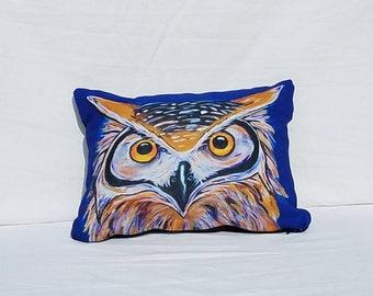Owl Pillow, throw pillow, accent pillow, decorative pillow, animal pillow, bird pillow, owl decor, teacher gift, unique gift, owl