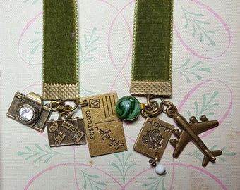 Going Away Gifts For Travelers   Ribbon Bookmark   Book Club Gifts For Readers    Velvet Bookmarks For Books   Book Mark