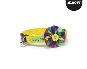 GOOOD Cat Collar | Bloomie - Classic Artist | 100% Pattern Cotton Fabric | Safety Breakaway Buckle