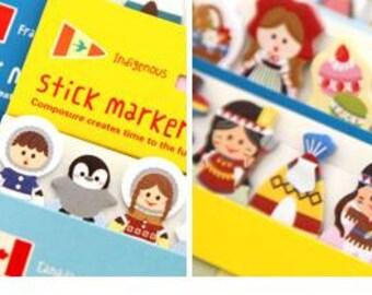 Sales Stick Marker - World Costume Stick - Indigenous- 120 sheets