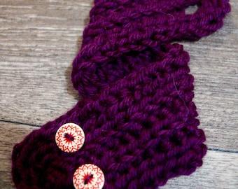 Flower purple coffee cozy