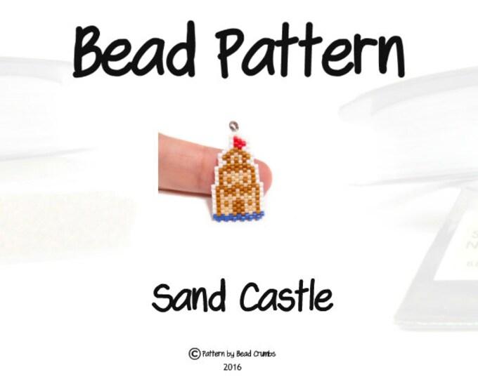 Seed Bead PATTERN Sand Castle, Brick or Peyote Stitch Beading