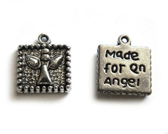 "10 Silver ""Made For An Angel"" Charms"