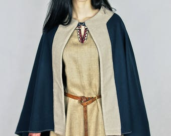 Ready for shipping! Viking cloak for woman, Valkyrie, medieval pattern, historical costume, historical cloak, coat, viking, Scandinavia