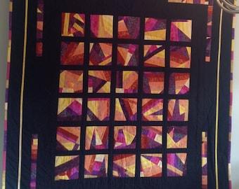 Lap Quilt, wall Hanging, Patchwork Quilt