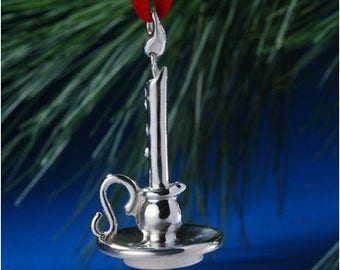Sterling Silver Candle Ornament