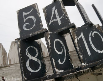 WOOD TABLE NUMBERS | Rustic Wedding Table Numbers | Distressed Table Numbers | Rustic Table Numbers | Vintage Wedding Table Decor | Numbers