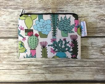 Reusable Snack Bag, Reusable Zipper Bag, Reusable Sandwich Bag, Zipper Pouch, Reusable, Cactus Snack Bag, Lunch Bag, Reusable Bag