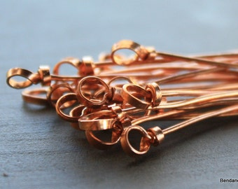 Bend and Spark Original 10 Handmade Headpins 20 Gauge Layered Ribbon Design