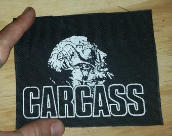 CARCASS PATCH - death metal black canvas