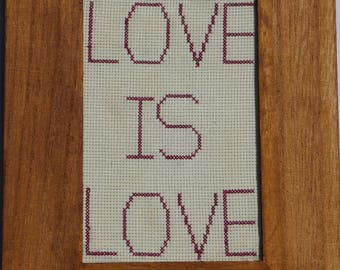 Love is Love Cross-Stitch
